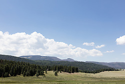 Valles Caldera (or Jemez Caldera) is a 13.7-mile (22.0 km) wide volcanic caldera in the Jemez Mountains of northern New Mexico.[1] Hot springs, streams, fumaroles, natural gas seeps and volcanic domes dot the caldera floor landscap