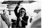 Jacqueline Onassis at Vreeland memorial, 1989© Copyright Photograph by Dafydd Jones 66 Stockwell Park Rd. London SW9 0DA Tel 020 7733 0108 www.dafjones.com