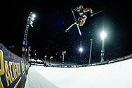 David Wise during Men's Ski SuperPipe Finals at 2021 X Games Aspen in Aspen, CO. ©Brett Wilhelm/ESPN