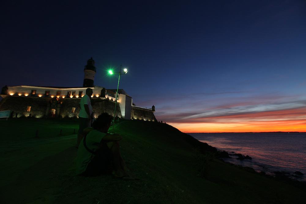 Salvador_BA, Brasil. <br /> <br /> Farol da Barra, antigo Forte Santo Antonio da Barra.<br /> <br />  Barra's Lighthouse, old Fort of Santo Antonio da Barra.<br /> <br /> Foto: RODRIGO LIMA / NITRO