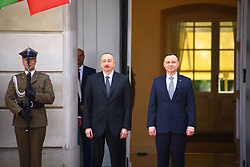 June 27, 2017 - Warsaw, Poland - President Duda received Azerbaijani President Ilham Aliyev with military ceremony at Presidential Palace in Warsaw. (Credit Image: © Jakob Ratz/Pacific Press via ZUMA Wire)