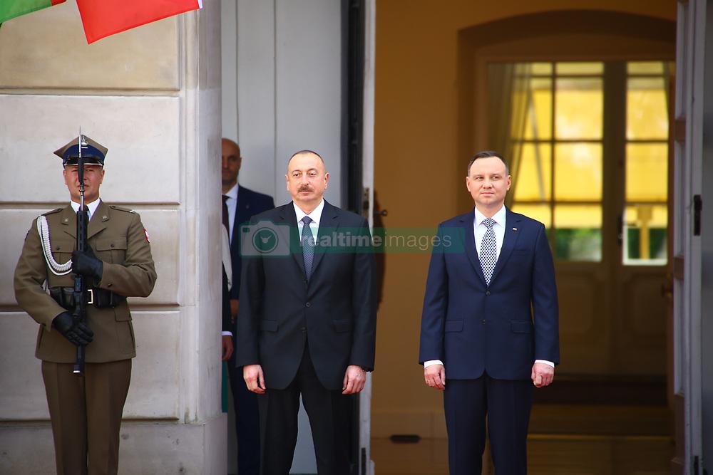 June 27, 2017 - Warsaw, Poland - President Duda received Azerbaijani President Ilham Aliyev with military ceremony at Presidential Palace in Warsaw. (Credit Image: © Jakob Ratz/Pacific Press via ZUMA Wire)