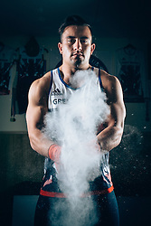 Team GB Rio 2016 Olympic Weightlifter Sonny Webster poses for a portrait as he trains in his coaches garage - Rogan Thomson/JMP - 07/11/2016 - HOCKEY - Winscombe - Bristol, England - Bristol Sport Collection Photoshoot.