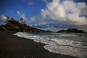 In summer, hikers can explore empty beaches on Pacific Rim National Park Reserve on Vancouver Island just outside of Tofino, B.C. (Erika Schultz / The Seattle Times)