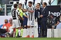 Claudio Marchisio, Sami Khedira, Massimiliano Allegri Juventus <br /> Torino 19-08-2017 Juventus Stadium <br /> Calcio Serie A Juventus - Cagliari Foto Andrea Staccioli Insidefoto