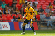 Newport County midfielder Robbie Willmott (7) during the EFL Sky Bet League 2 Play Off Final match between Newport County and Tranmere Rovers at Wembley Stadium, London, England on 25 May 2019.