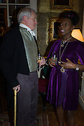 CRAWFORD LOGAN AS SIR WALTER SCOTT; BARONESS FLOELLA BENJAMIN, The Walter Scott Prize for Historical Fiction 2015 - The Duke of Buccleuch hosts party to for the shortlist announcement. <br /> The winner is announced at the Borders Book Festival in Scotland in June.John Murray's Historic Rooms, 50 Albemarle Street, London, 24 March 2015.