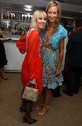 Left to rightm TICKY HEDLEY-DENT and LADY VICTORIA HERVEY at a party to celebrate the publication of Tatler's Little Black Book 2006 held at 24, 24 Kingley Street, London W1 on 9th November 2006.<br />