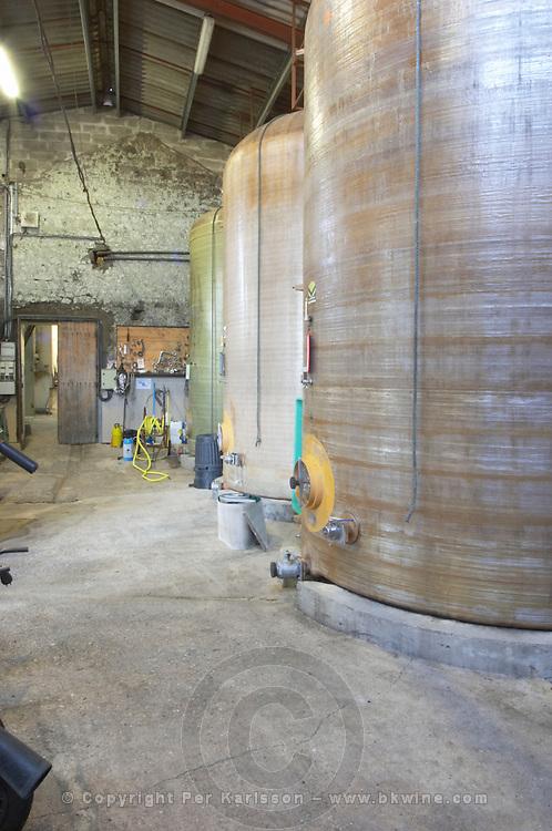 glass fibre fermentation tanks Chateau Belingard Bergerac Dordogne France