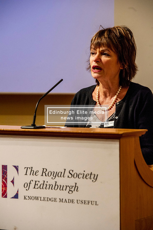 Pictured: Dame Anne Glover, President Royal Society of Edinburgh<br /><br />Professor Sir Anton Muscatelli was joined by Finance Secretary Derek Mackay as he launched his report on how Scotland's higher education sector can maximise its impact on economic growth. Commissioned by Mr Mackay, the report will make recommendations for the sector, industry, the Scottish Government and its agencies<br /><br /> Ger Harley | EEm 27 November 2019