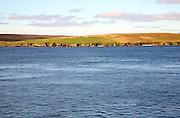 Deserted island of Bigga, between Mainland and Yell, Shetland islands, Scotland