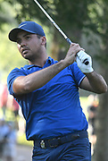 ST. LOUIS, MO - AUGUST 09: Jason Day of Australia watches his tee shot on the #11 hole during the first round of the PGA Championship on August 09, 2018, at Bellerive Country Club, St. Louis, MO.  (Photo by Keith Gillett/Icon Sportswire)