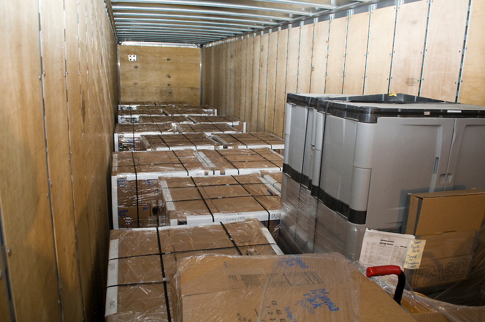 In just a few days the volunteers were able to package 127,744 meals. The truck will head to Chicago where the meals will be added to a cargo container and then shipped out to a feeding center.