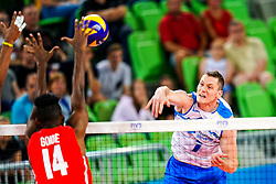 Toncek Stern of Slovenia vs Adrian Eduardo Goide Arredondo of Cuba during volleyball match between Cuba and Slovenia in Final of FIVB Volleyball Challenger Cup Men, on July 7, 2019 in Arena Stozice, Ljubljana, Slovenia. Photo by Matic Klansek Velej / Sportida