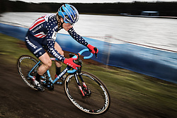 February 9, 2019 - Lille, BELGIUM - US Katie Compton pictured in action during the women's elite race of the Krawatencross cyclocross in Lille, the eighth and last stage in the DVV Trofee Cyclocross competition, Saturday 09 February 2019. BELGA PHOTO DAVID STOCKMAN (Credit Image: © David Stockman/Belga via ZUMA Press)