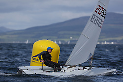 Day 4 NeilPryde Laser National Championships 2014 held at Largs Sailing Club, Scotland from the 10th-17th August.<br /> <br /> 205169, Oliver DAVENPORT<br /> <br /> Image Credit Marc Turner