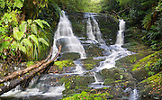 View of Bride's Veil Fall, found in The Catlins, Southland, New Zealand.