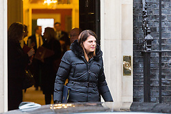 London - Caroline Nokes, Minister of State for Immigration leaves the weekly meeting of the UK cabinet at Downing Street. January 23 2018.