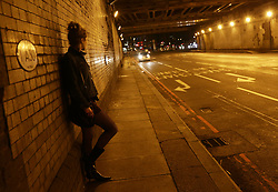 PICTURE POSED BY MODEL Stock photo of a sex worker in Vauxhall, London.