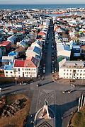 View from Hallgrímskirkja Church, Reykjavik, Iceland