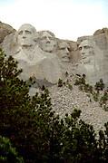 Mount Rushmore representing four American Presidents;  Washington, Jefferson, Roosevelt, and Lincoln.  Black Hills South Dakota USA
