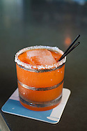"""Beaker and Flask, a restaurant and bar in SE Portland, Oregon, serves up specialty cocktails.  The cocktail called Zanahorita, which means, """"little carrots."""""""