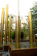 Fountain sculpture at Peavy Plaza by Orchestra Hall.  Minneapolis Minnesota USA