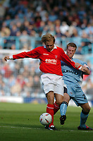 Photo. Leigh Quinnell.  Coventry City v Rotherham United Coca Cola championship. 18/09/2004.<br />