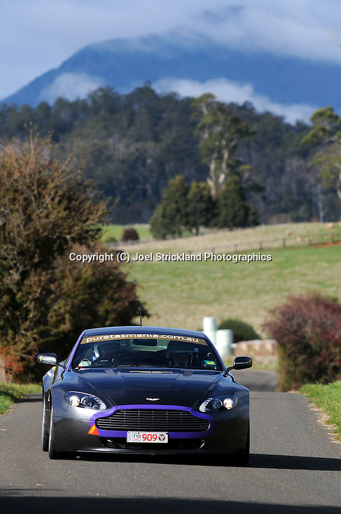 #909 - Philip Leith & Kim Taylor - 2006 Aston Martin Vantage.Day 3.Targa Tasmania 2010.30th of April 2010.(C) Joel Strickland Photographics.Use information: This image is intended for Editorial use only (e.g. news or commentary, print or electronic). Any commercial or promotional use requires additional clearance.