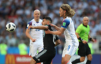 Football - 2018 FIFA World Cup - Group D: Argentina vs. Iceland<br /> Javier Mascherano of Argentina vies with Emil Hallfredsson of IcelandLionel Messi of Argentina is seen at Spartak Stadium (Otkritie Arena), Moscow.<br /> <br /> COLORSPORT/IAN MACNICOL