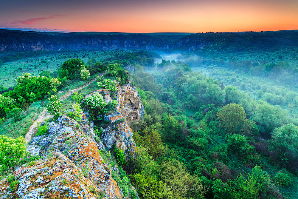 Early morning above the  canyon of Rusenski Lom