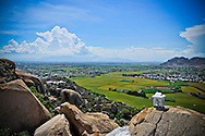 View from Trung Son pagoda in Khanh Hoa Province, Vietnam, Southeast Asia