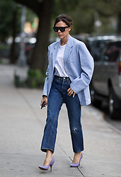 Victoria Beckham seen arriving to her studio after her show and after having with David and Brooklyn in New York. 10 Sep 2017 Pictured: Victoria Beckham. Photo credit: TM / MEGA TheMegaAgency.com +1 888 505 6342