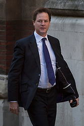 © licensed to London News Pictures. London, UK 13/06/2012. Nick Clegg arrives to Leveson inquiry, this morning (13/06/12). Photo credit: Tolga Akmen/LNP