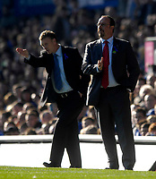 Photo: Jed Wee/Sportsbeat Images.<br /> Everton v Liverpool. The FA Barclays Premiership. 20/10/2007.<br /> <br /> Liverpool manager Rafael Benitez (R) with Everton manager David Moyes.