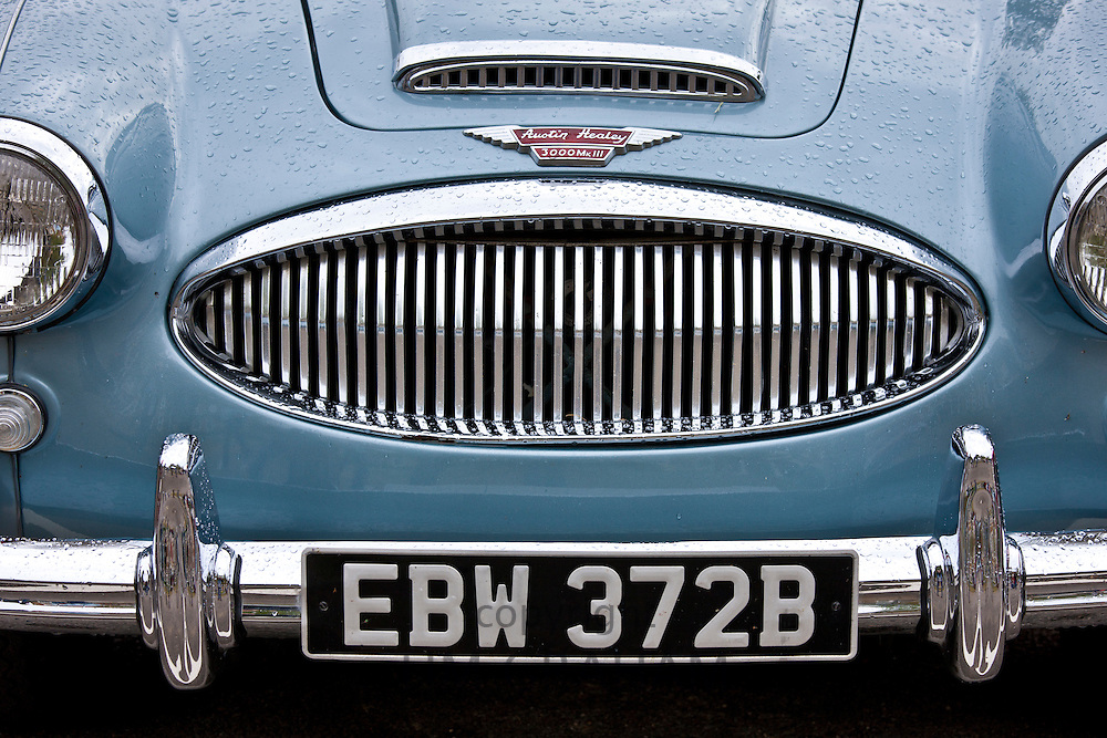 Austin Healey 3000 Mark III car at classic car rally at Brize Norton in Oxfordshire, UK