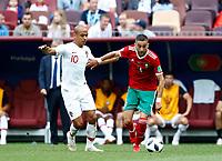 Joao Mario (Portugal) and Hakim Ziyach (Morocco)<br /> Moscow 20-06-2018 Football FIFA World Cup Russia  2018 <br /> Portugal - Morocco / Portogallo - Marocco <br /> Foto Matteo Ciambelli/Insidefoto