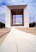 The Grande Arche de la Défense in the commune of Puteaux, or business district of Paris, France