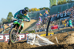 September 30, 2018 - Imola, BO, Italy - Clement DESALLE (BEL) in the final laps of .Race 2 of MXGP of Italy in Imola. He will finish in third place. (Credit Image: © Riccardo Righetti/ZUMA Wire)
