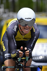 June 7, 2017 - Bourgoin Jallieu, France - BOURGOIN-JALLIEU, FRANCE - JUNE 7 : TOLHOEK Antwan (NED) Rider of Team Lotto NL - Jumbo during stage 4 of the 69th edition of the Criterium du Dauphine Libere cycling race, an individual time trail of 23,5 kms between La Tour-du-Pin and Bourgoin-Jallieu on June 07, 2017 in Bourgoin-Jallieu, France, 7/06/2017 (Credit Image: © Panoramic via ZUMA Press)