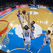 Anadolu Efes's Stratos Perperoglou (3ndR) during their Turkish Airlines Euroleague Basketball Top 16 Round 7 match Anadolu Efes between Fenerbahce Ulker at Abdi ipekci arena in Istanbul, Turkey, Friday 13 February, 2015. Photo by Aykut AKICI/TURKPIX
