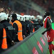 Galatasaray's Emmanuel EBOUE during their Turkish Superleague soccer match Galatasaray between Mersin Idman Yurdu at the Turk Telekom Arena at Aslantepe in Istanbul Turkey on Saturday 05 November 2011. Photo by TURKPIX