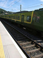 DART arriving at Killiney Train Station Dublin Ireland