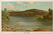 Coloured Illustration the River Jordan of from the book Palestine illustrated by Sir Richard Temple, 1st Baronet, GCSI, CIE, PC, FRS (8 March 1826 – 15 March 1902) was an administrator in British India and a British politician. Published in London by W.H. Allen & Co. in 1888