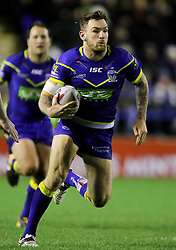 Warrington's Daryl Clark in action during the Betfred Super League match at the Halliwell Jones Stadium, Warrington. PRESS ASSOCIATION Photo. Picture date: Thursday February 1, 2018. See PA story RUGBYL Warrington. Photo credit should read: Richard Sellers/PA Wire. RESTRICTIONS: Editorial use only. No commercial use. No false commercial association. No video emulation. No manipulation of images.