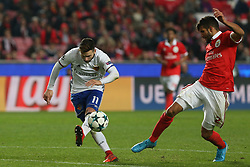 December 5, 2017 - Lisbon, Lisbon, Portugal - Fc Basel forward Renato Steffen from Switzerland (L) and Benficas defender Lisandro Lopez from Argentina (R) during the match between SL Benfica v FC Basel UEFA Champions League playoff match at Luz Stadium on December 5, 2017 in Lisbon, Portugal. (Credit Image: © Dpi/NurPhoto via ZUMA Press)