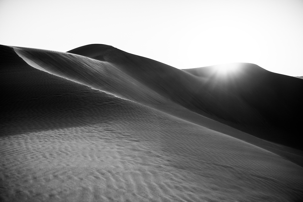 Sunset at Glamis Sand Dunes in Southern California. ©justinalexanderbartels.com