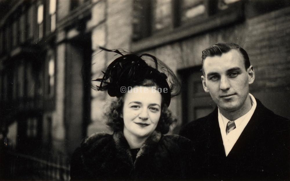 vintage photograph of happy couple.