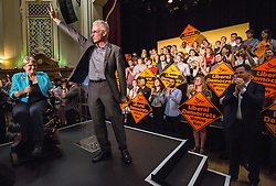 © Licensed to London News Pictures. 16/07/2015. London, UK. Norman Lamb speaking at Islington Assembly Hall before Tim Farron's first rally as Leader of the Liberal Democrats after beating Norman Lamb in the contest to succeed Nick Clegg. Photo credit : James Gourley/LNP