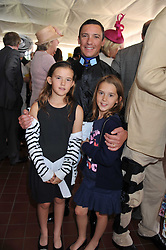 FRANKIE DETTORI and his daughters ELLA & MIA at the 3rd day of the 2011 Glorious Goodwood Racing Festival - Ladies Day at Goodwood Racecourse, West Sussex on 28th July 2011.